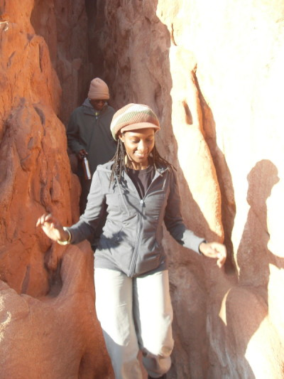 From the cave--Garden of the Gods, Colorado Springs. Behind, my brother Emmy.