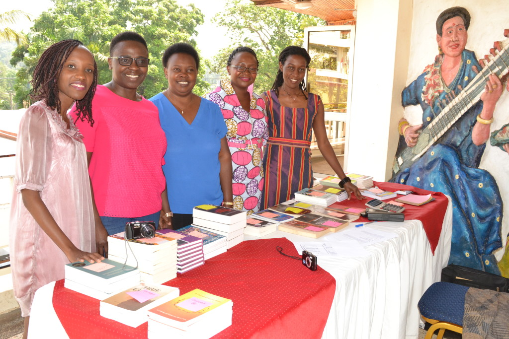 Lining up for books at the African Writers Trust International Conference in Uganda, 2015. AWT image