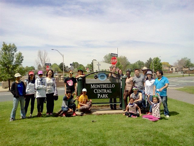 After mulching trees on May 21st at Montebello Park we took this picture.